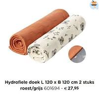 Hydrofiele doek roest-grijs-Dreambee