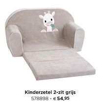 Kinderzetel 2-zit grijs-Dreambee
