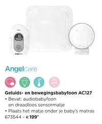 Angelcare geluids- en bewegingsbabyfoon ac127-Angelcare