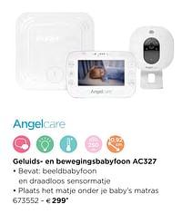 Angelcare geluids- en bewegingsbabyfoon ac327-Angelcare