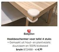 Hoekbeschermer voor tafel bruin-Babydan