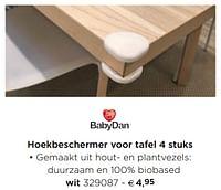 Hoekbeschermer voor tafel wit-Babydan