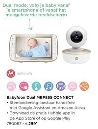 Motorola babyfoon dual mbp855 connect-Motorola