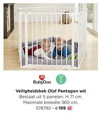 Veiligheidshek olaf pentagon wit-Babydan