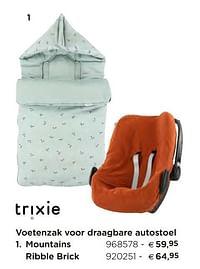 Voetenzak voor draagbare autostoel mountains-Trixie