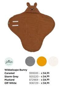 Wikkelcape bunny caramel-Jollein