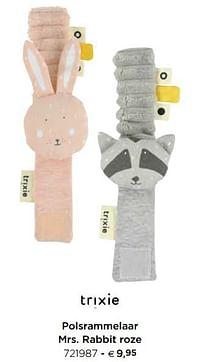 Polsrammelaar mrs. rabbit roze-Trixie