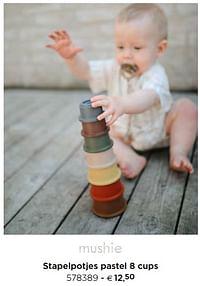 Stapelpotjes pastel 8 cups-Mushie