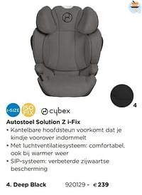 Autostoel solution z i-fix deep black-Cybex