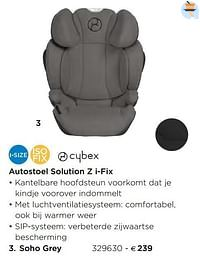 Autostoel solution z i-fix soho grey-Cybex