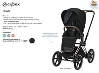 Priam rose gold-black-Cybex