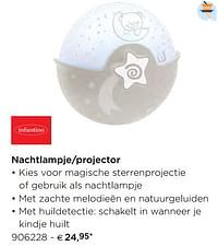 Nachtlampje-projector-Infantino