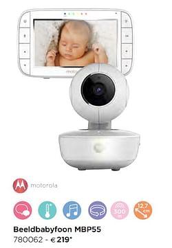 Motorola beeldbabyfoon mbp55