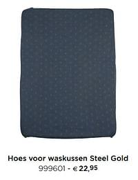 Hoes voor waskussen steel gold-Pericles