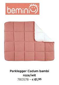 Parklegger cadum bambi roze-wit-Bemini