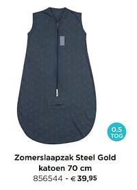 Zomerslaapzak steel gold katoen-Pericles