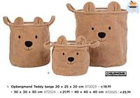 Opbergmand teddy beige-Childhome