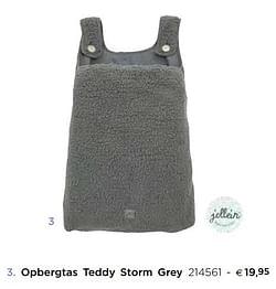 Opbergtas teddy storm grey