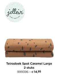 Tetradoek spot caramel large-Jollein