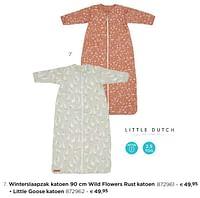Winterslaapzak katoen wild flowers rust katoen-Little Dutch