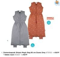 Zomerslaapzak stripes magic bag dunes grey-Bemini