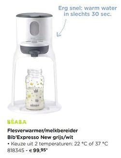 Beaba Flesverwarmer-melkbereider bib`expresso new grijs-wit