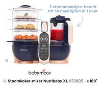BabyMoov Stoomkoker-mixer nutribaby xl-BabyMoov