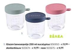 Glazen bewaarpotje 250 ml eucalyptus