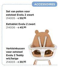 Verkleinkussen voor eetstoel evolu 2 teddy wit-beige-Childhome