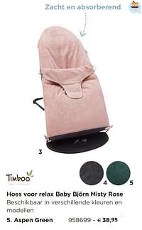 Hoes voor relax baby björn misty rose aspen green-Timboo