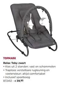 Relax toby zwart-Topmark