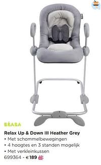 Relax up + down iii heather grey-Beaba