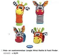 Pols- en voetrammelaar jungle wrist rattle + foot finder-Playgro