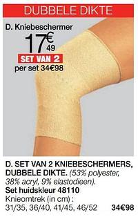 Set van 2 kniebeschermers, dubbele dikte-Huismerk - Damart