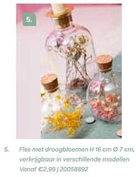 Fles met droogbloemen-Huismerk - Ava