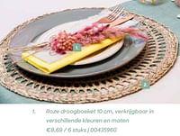 Roze droogboeket 10 cm-Huismerk - Ava