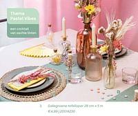 Saliegroene tafelloper-Huismerk - Ava