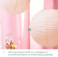 Zalmroze lampion-Huismerk - Ava