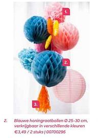 Blauwe honingraatbollen-Huismerk - Ava