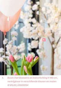 Boom met bloesems en ledverlichting-Huismerk - Ava