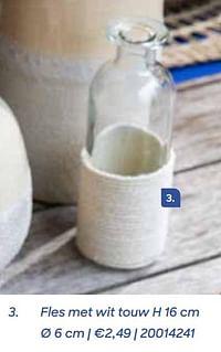 Fles met wit touw-Huismerk - Ava