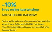 -10% in de online kaartenshop-Huismerk - Ava