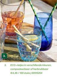 Eco-rietjes in verschillende kleuren, composteerbaar of herbruikbaar-Huismerk - Ava
