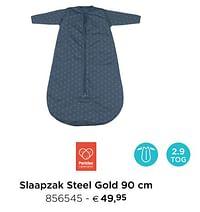 Slaapzak steel gold-Pericles
