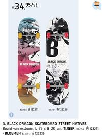 Black dragon skateboard street bloemen-Black Dragon