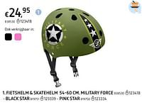 Fietshelm + skatehelm 54-60 cm.  black star-Huismerk - Dreamland