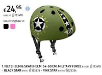 Fietshelm + skatehelm 54-60 cm.pink star-Huismerk - Dreamland