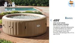 Intex jacuzzi purespa bubble massage 4 personen