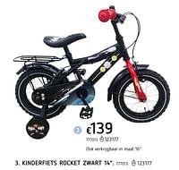 Kinderfiets rocket zwart 14-Huismerk - Dreamland