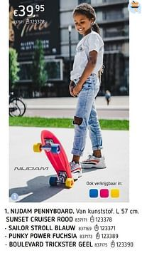 Nijdam pennyboard sunset punky power fuchsia-Nijdam